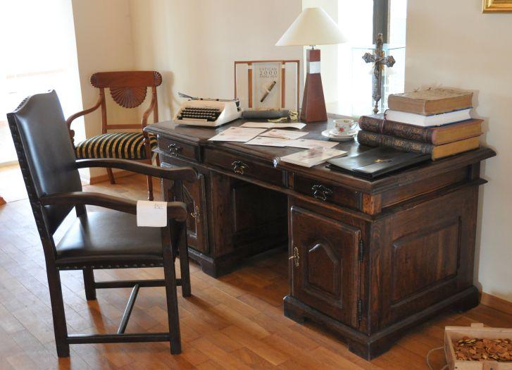 Schreibtisch, an dem Johannes Paul II. arbeitete