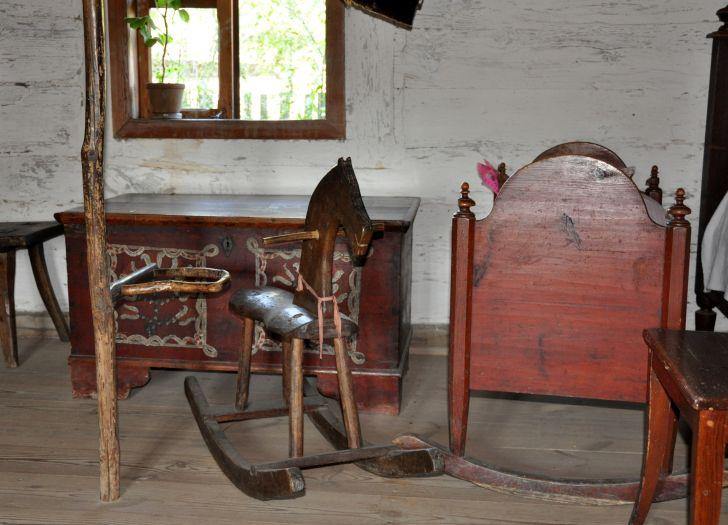 Kinderspielecke. Freilichtmuseum Großpolnischer Ethnographischer Park Dziekanowice