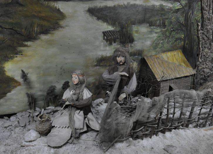 Inszenierung einer Erzählung über das Salzsieden