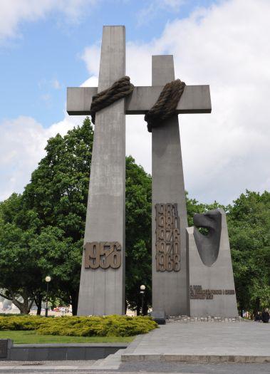 Denkmal des Juni von Poznań 1956 auf dem Mickiewicz-Platz in Poznań
