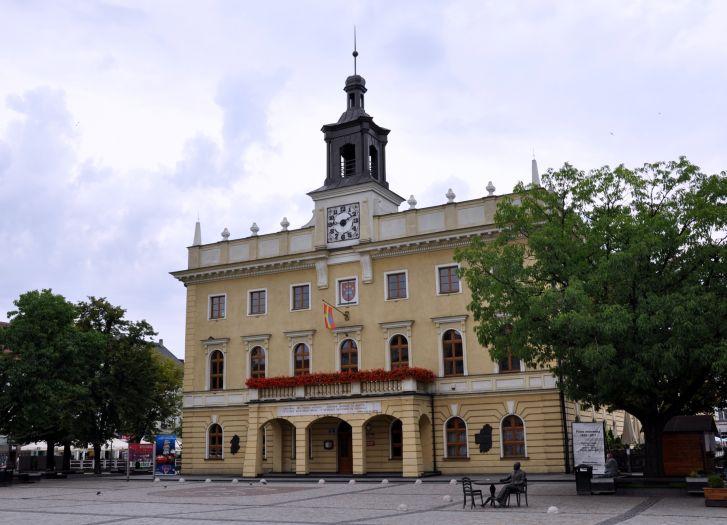 Herb Das Rathaus in Ostrów Wielkopolski (Ostrowo)