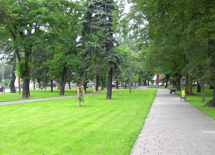 Der Park am Sienkiewicz-Platz in Szamotuły