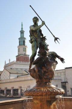 Herb Die Springbrunnen auf dem Altmarkt in Poznań (Posen)