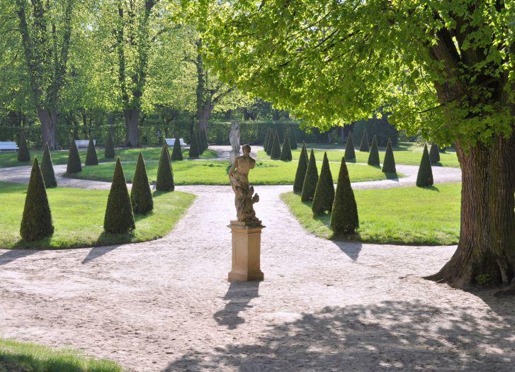 Ein Teil des Parks in Rogalin