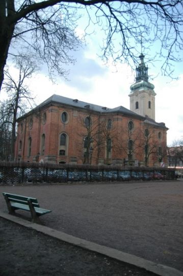 Herb Holy Cross Church in Leszno
