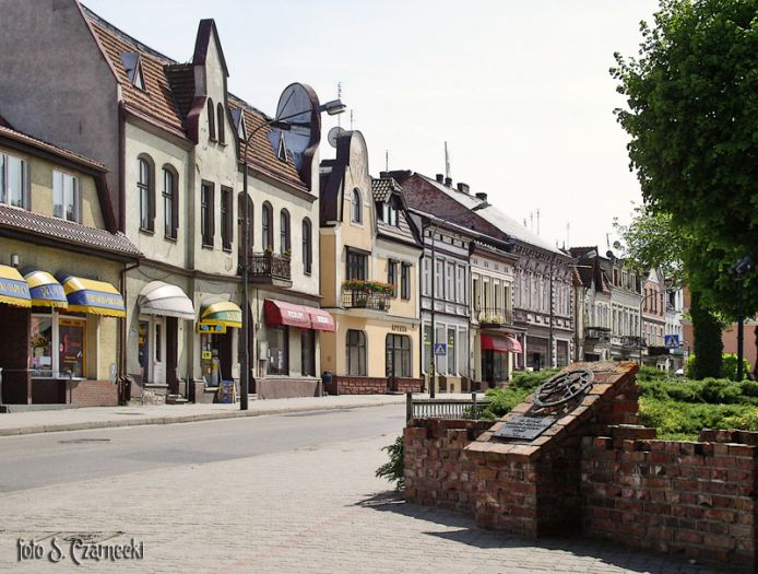 Czarnków - promenade in the town center