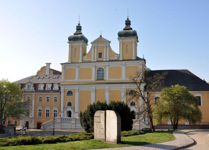 Wzgórze Przemysła - widok na kościół Franciszkanów