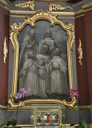 The painting set in the Five Martyr Brethren altar