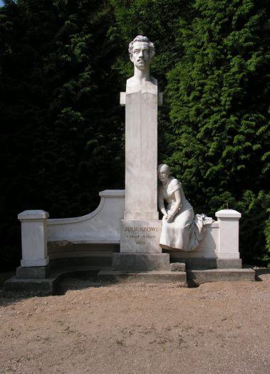 The monument of Juliusz Słowacki in Miłosław