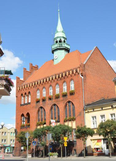 The town hall in Września