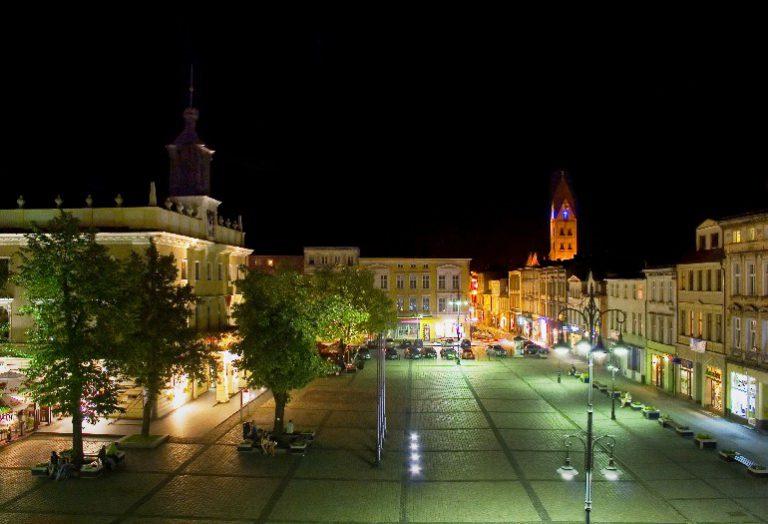 The market square in Ostrów-Wielkopolski