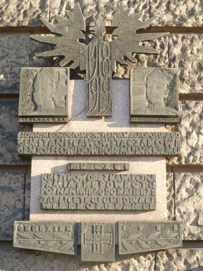 Tablica na Muzeum Narodowym w Poznaniu