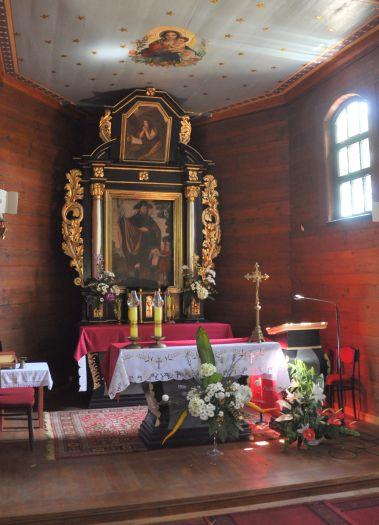 Ołtarz główny w kościele pw. św. Rocha w Mikstacie