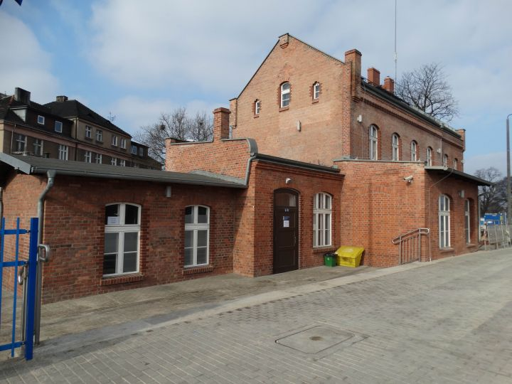 """Dworzec kolejowy stacji """"Luboń"""""""