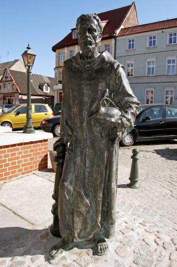 Figura błogosławionego Bernarda z Wąbrzeźna w Grodzisku Wielkopolskim