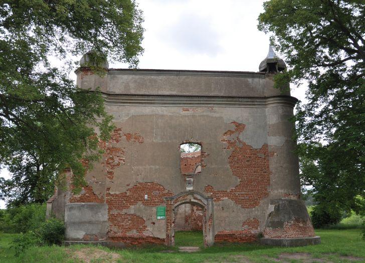 Herb Ruina kościoła pw. św. Jana Chrzciciela w Chojnicy