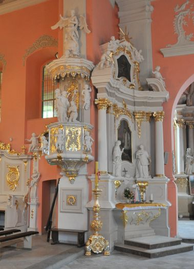 Chrzcielnica w kościele Narodzenia NMP w Lubaszu
