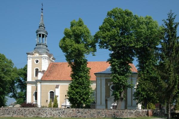 Herb Kościół pw. Świętego Krzyża i św. Mikołaja w Biezdrowie