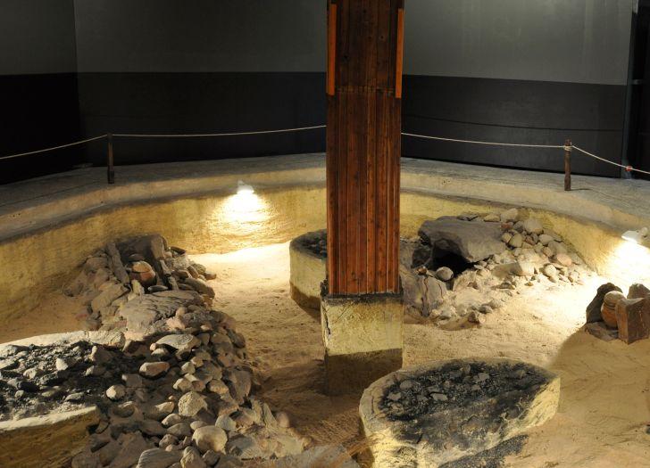 Fragment ekspozycji archeologicznej w Osieku