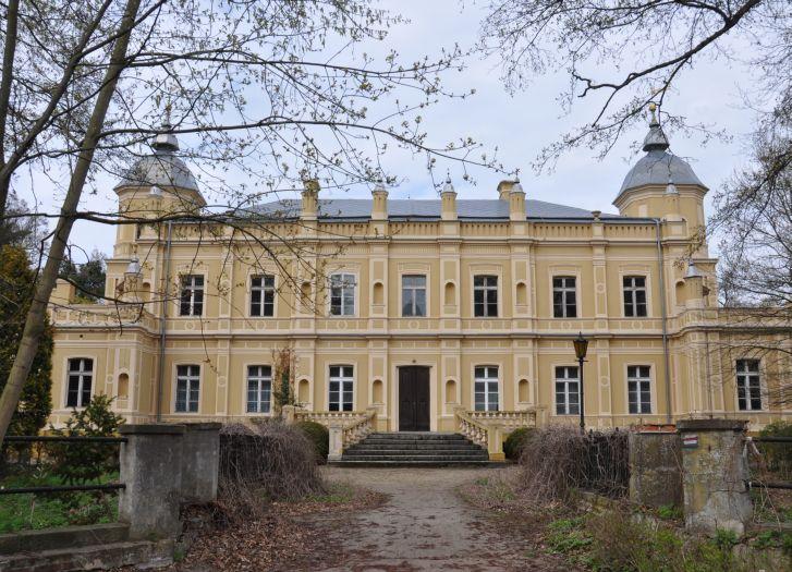 Pałac w Golejewku - widok od strony parku