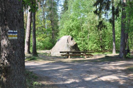 Kamień św. Jadwigi w Gołuchowie
