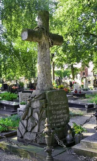 Grób A. Szamarzewskiego na cmentarzu farnym w Ostrowie Wlkp.