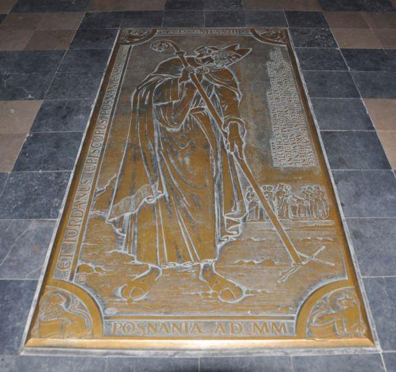 Płyta biskupa Jordana w poznańskiej katedrze