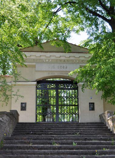 Wejście na cmentarz ewangelicki