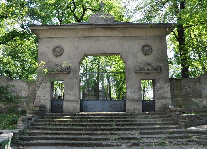 Wejście na cmentarz prawosławny