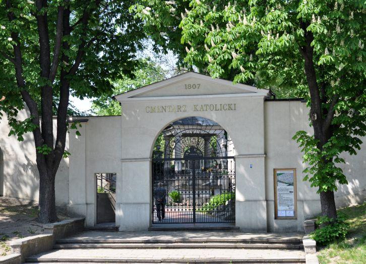 Wejście na cmentarz katolicki