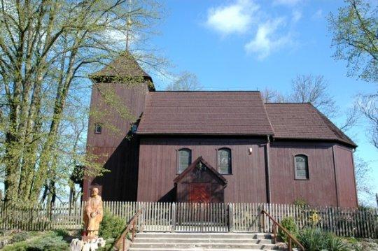 Herb Szlakiem drewnianych kościołów w Puszczy Zielonka (Trasa I)