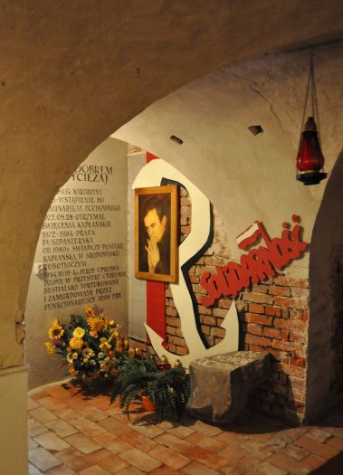 W podziemiach kościoła klasztornego w Kole
