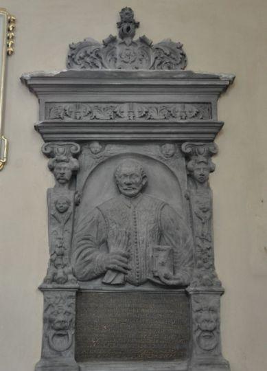 Popiersie Bartłomieja Wilczyńskiego w kościele Bernardynów w Kole