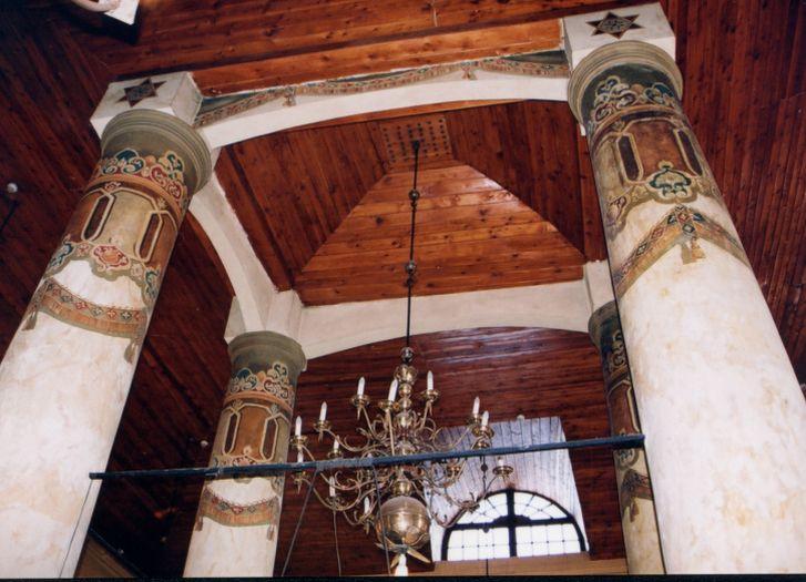 Wnętrze dawnej synagogi w Koninie