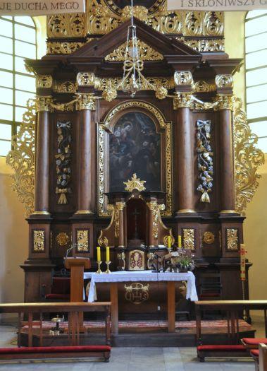Ołtarz główny w kościele pw. Świętego Ducha w Kościanie