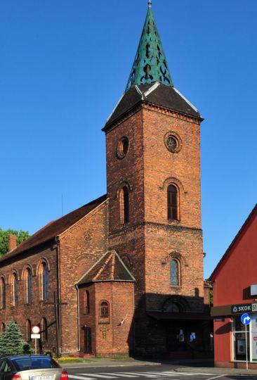 Herb Kościół poewangelicki pw. św. Jerzego w Jarocinie