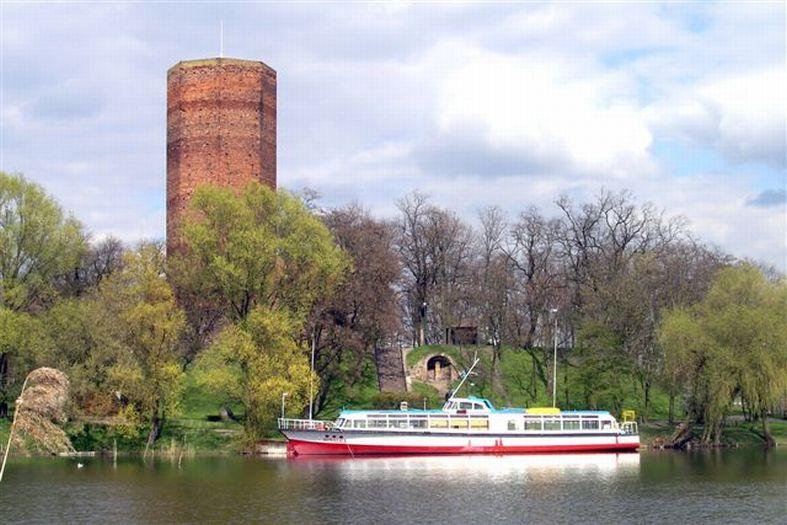 Herb Dawny zamek w Kruszwicy (Mysia Wieża)