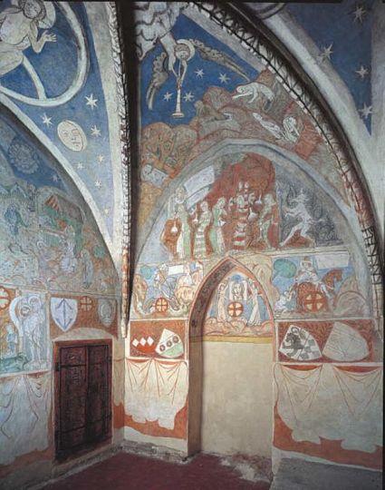 Freski w oratorium św. Jakuba w klasztorze pocysterskim w Lądzie
