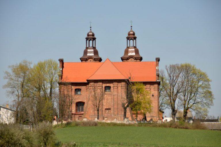 Kościół pw. św. Mikołaja w Lądku - widok od strony Warty