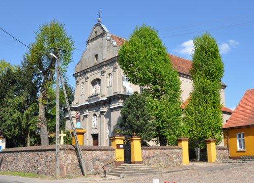 Herb Kościół pw. Wniebowzięcia NMP w Łopiennie