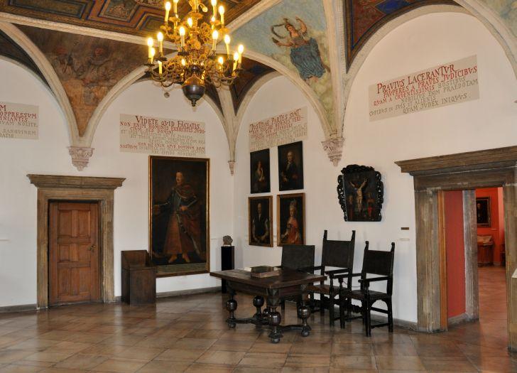 Sala sądowa w Muzeum Historii Miasta Poznania