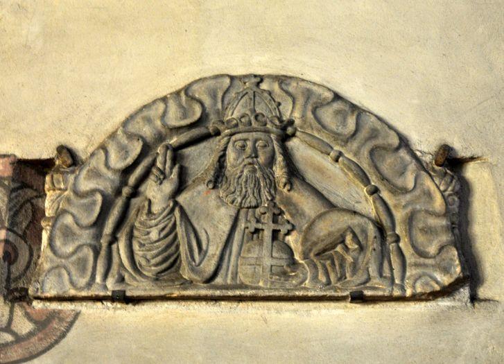 Fragment renesansowego sakramentarium w kościele w Nowym Mieście nad Wartą
