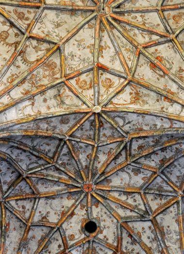 Fragment sklepienia w kościele w Nowym Mieście nad Wartą