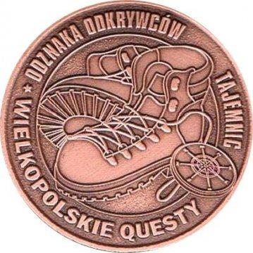 Herb Wielkopolskie Questy<br>Odznaka Odkrywców Tajemnic