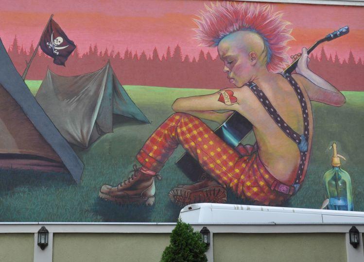 Fragment jednego z jarocińskich murali