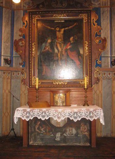 Ołtarz główny w kaplicy Na Lipówce we Wrzesni