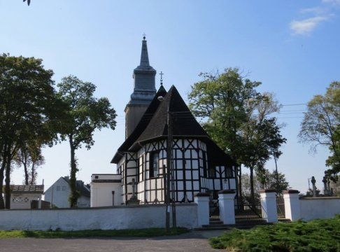 Herb Kościół pw. NMP Niepokalanie Poczętej w Oporowie