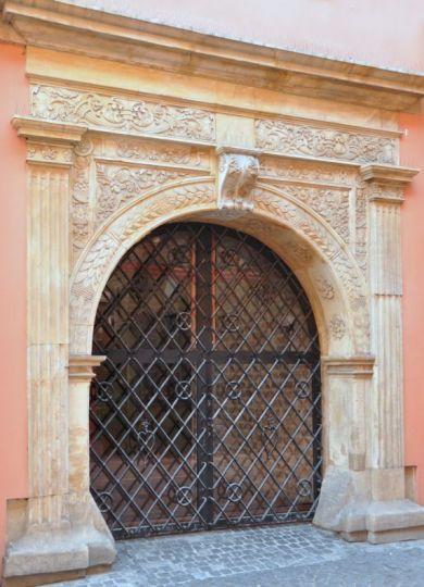 Portal w Pałacu Górków w Poznaniu