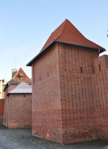 Fragment murów miejskich z Basztą Katarzynek w Poznaniu