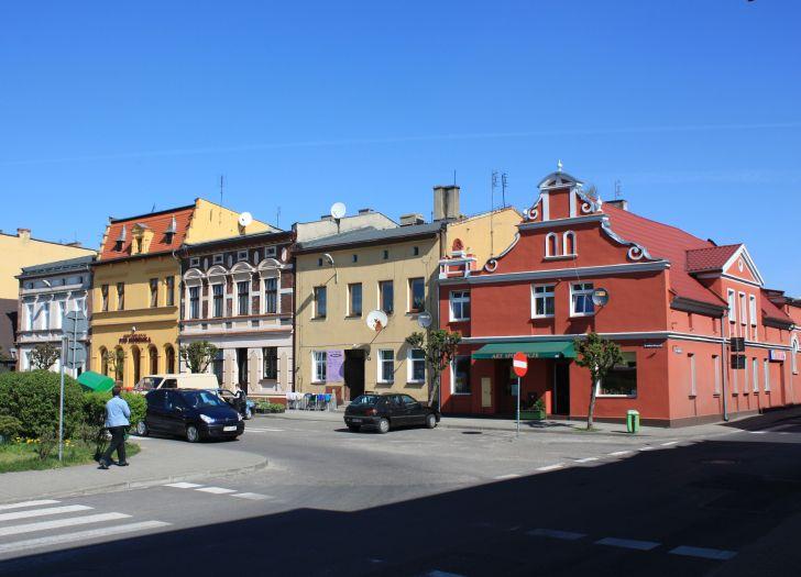 Kamieniczki przy Rynku w Rakoniewicach
